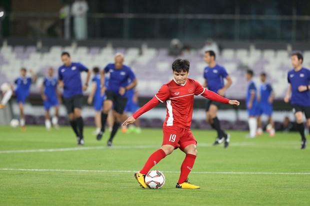 国际专家高度评价越南球员阮光海的球技 hinh anh 1