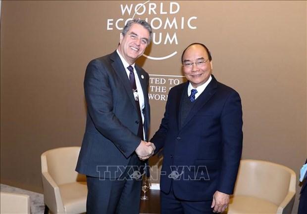 阮春福总理2019年世界经济论坛年会期间开展系列活动 hinh anh 3