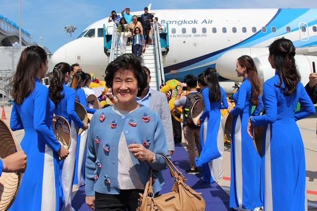 泰国曼谷至越南庆和省金兰航线今日首飞 hinh anh 1