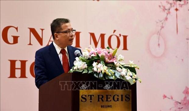 越南驻华大使馆举行迎春活动 hinh anh 1