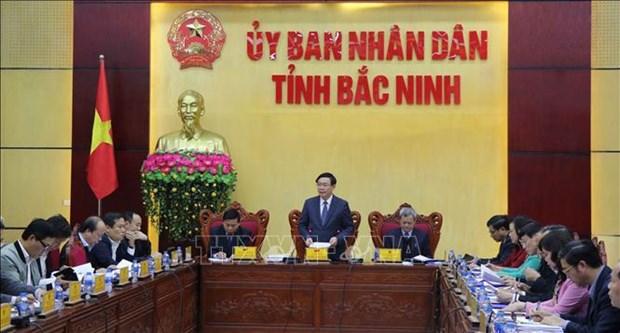 政府副总理王廷惠莅临海防和北宁考察当地吸引外资情况 hinh anh 1