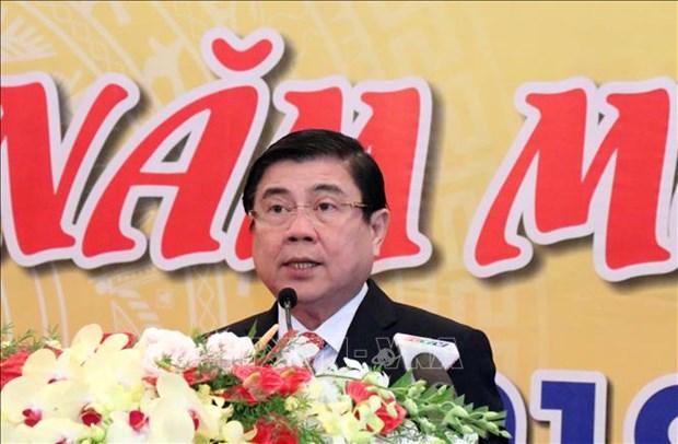 胡志明市领导春节前与各国驻胡志明市代表机构代表会面 hinh anh 2