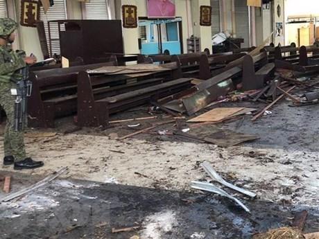越南强烈谴责发生在菲律宾苏禄省的恐怖袭击事件 hinh anh 1