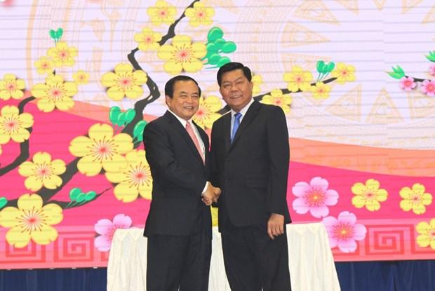 隆安省与柬埔寨柴桢和波罗勉两省加强合作 hinh anh 1