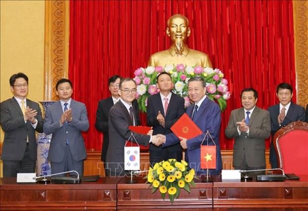 越南与韩国加强合作防范打击跨国犯罪 hinh anh 1