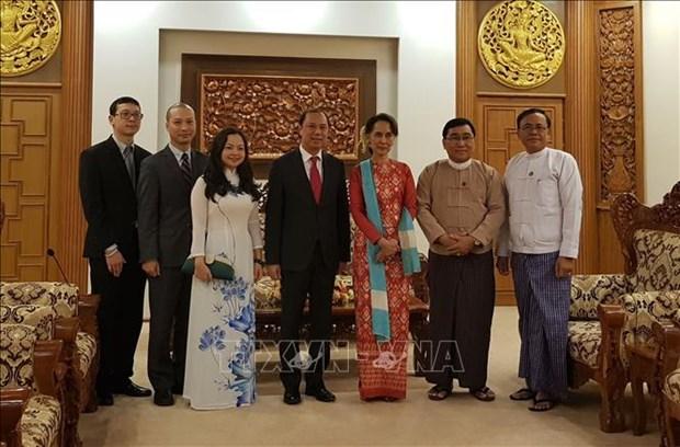 越南政府总理特使、外交部副部长阮国勇访问缅甸 hinh anh 2
