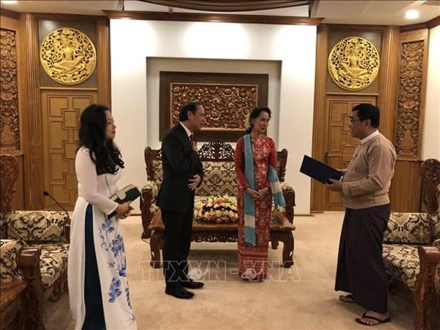 越南政府总理特使、外交部副部长阮国勇访问缅甸 hinh anh 1