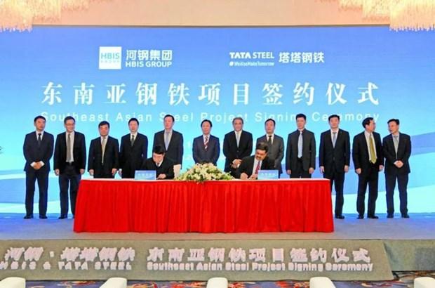 中国河钢集团收购印度塔塔东南亚钢铁资产70%的股权 hinh anh 1