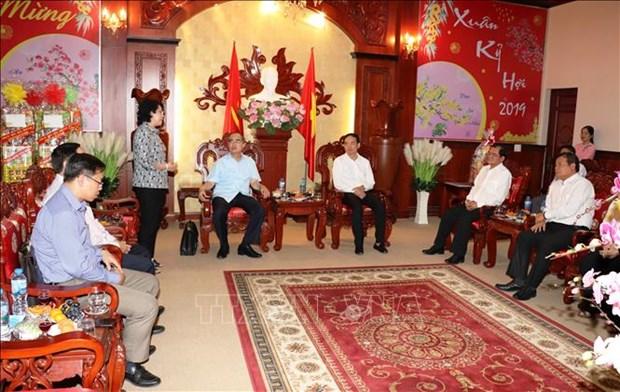 胡志明市市委书记阮善仁春节前在西宁省开展走访慰问活动 hinh anh 1
