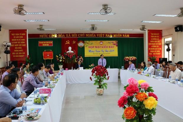 朔庄省和宁顺省举行2019年新春越侨见面会 hinh anh 2