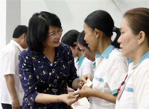 国家副主席邓氏玉盛出席越南共产党建党89周年庆祝活动 hinh anh 1