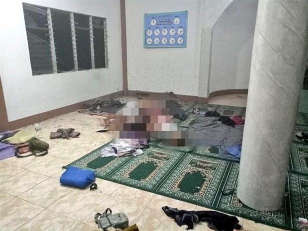 菲律宾南部一伊斯兰教堂遭袭击 hinh anh 1