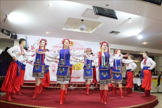 越南驻乌克兰大使馆举行迎春见面会 hinh anh 1