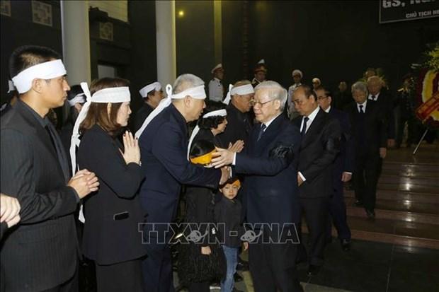 阮德平同志追悼会在河内国家殡仪馆隆重举行 hinh anh 4