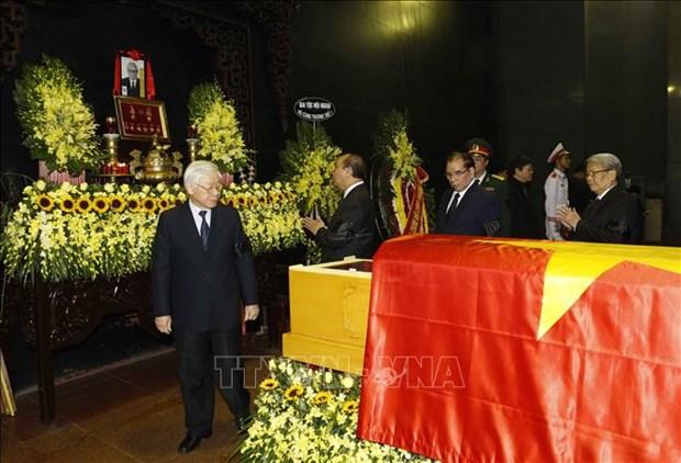 阮德平同志追悼会在河内国家殡仪馆隆重举行 hinh anh 3