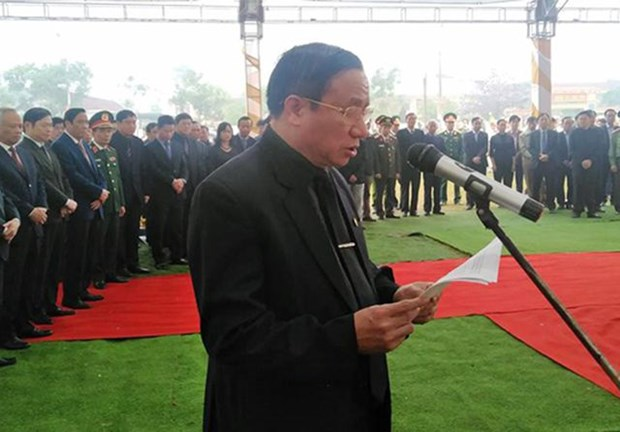 阮德平同志吊唁仪式和安葬仪式在河静省红岭市举行 hinh anh 2