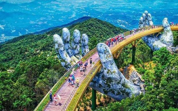 岘港金桥——岘港市旅游业的亮点 hinh anh 1