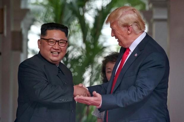 美国总统再次肯定美朝领导人第二次峰会将在河内举行 hinh anh 1