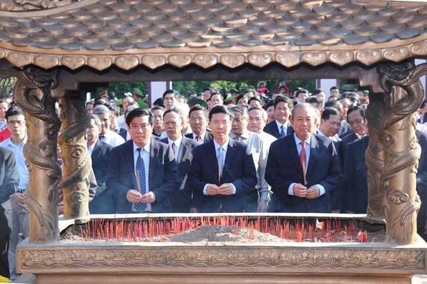 越南领导代表赴平定省出席玉回-栋多大捷230周年纪念典礼 hinh anh 1