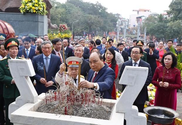 阮春福出席玉回-栋多大捷230周年纪念典礼 hinh anh 2