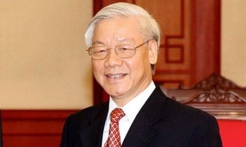 越南领导人致电祝贺伊朗国庆40周年 hinh anh 1