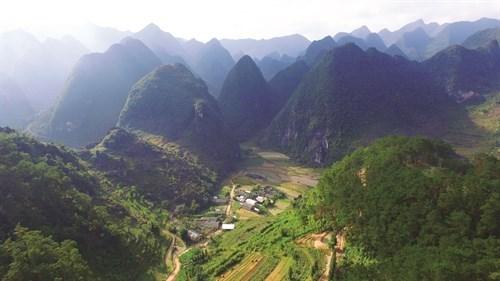 河江省同文岩石高原全球地质公园吸引成千上万游客前来参观游览 hinh anh 1
