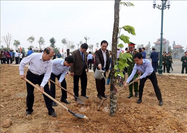 富寿和宁平等省举行植树活动启动仪式 hinh anh 1