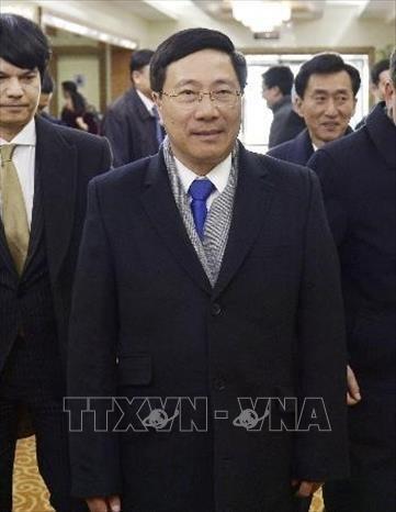 越南政府副总理兼外长范平明对朝鲜进行正式访问 hinh anh 1