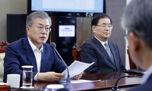 韩国总统欢迎即将在河内举行的美朝领导人第二次峰会 hinh anh 1