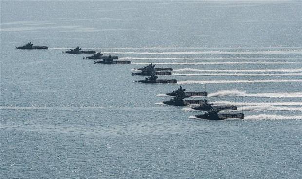 由美国和泰国联合举办的金色眼镜蛇联合军事演习开幕 hinh anh 2