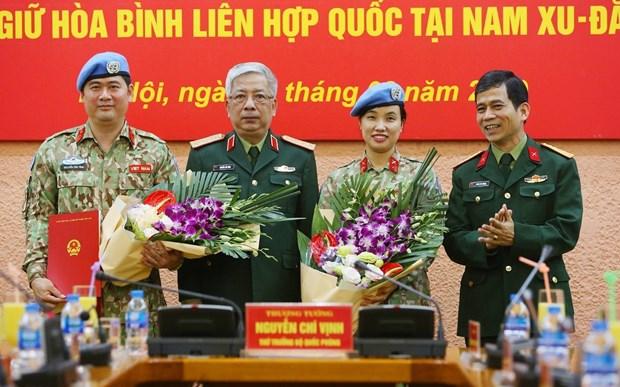 另一名越南军官前往南苏丹执行维和任务 hinh anh 1