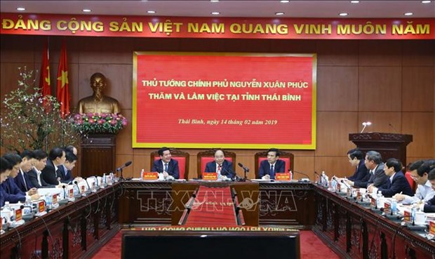 政府总理阮春福: 太平省需注重发展数量和质量 hinh anh 1