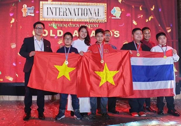 河内学生代表团在第7届国际数学竞赛中获得优秀的成绩 hinh anh 1