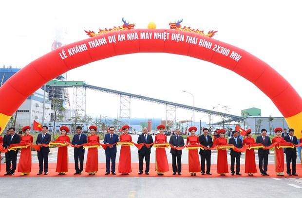 政府总理阮春福出席太平省多个重点项目动工仪式 hinh anh 1