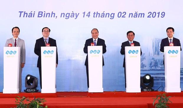政府总理阮春福出席太平省多个重点项目动工仪式 hinh anh 2