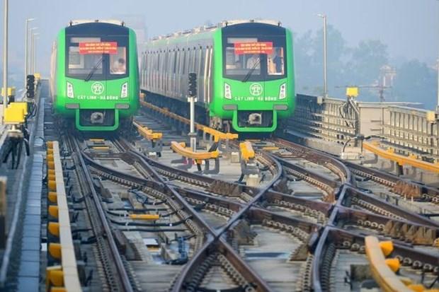河内轻轨吉灵—河东线项目预计将于2019年4月正式投产运行 hinh anh 1