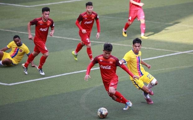 越南U22足球队今日启程前往柬埔寨参加2019东南亚U22锦标赛 hinh anh 2