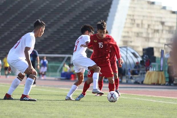 东南亚U22足球锦标赛:越南队取得开门红 hinh anh 1