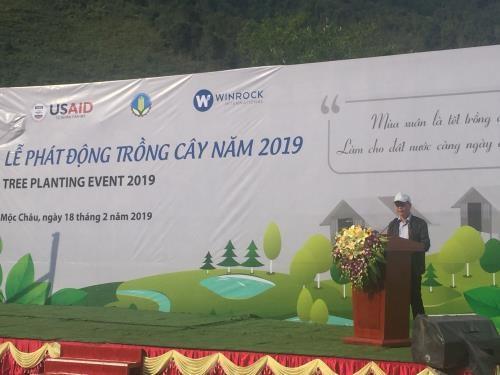 山罗省举行2019年植树节启动仪式 hinh anh 1