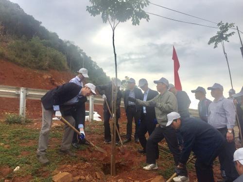 山罗省举行2019年植树节启动仪式 hinh anh 2