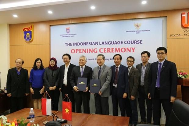 印度尼西亚语正式列入河内国家大学课程 hinh anh 1