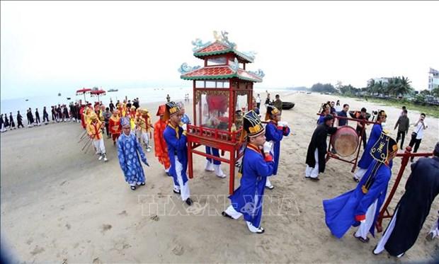 岘港市清溪郡求鱼节获得国家非物质文化遗产证书 hinh anh 2
