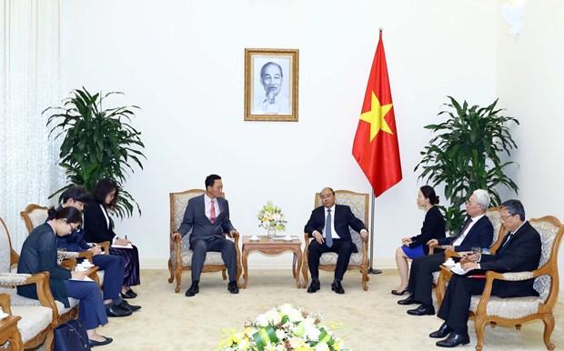 越南政府总理阮春福会见韩国驻越南大使金度铉 hinh anh 1