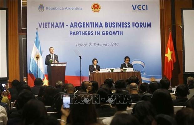 越南阿根廷企业论坛吸引两国300家企业代表出席 hinh anh 1