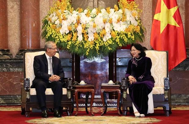 越南国家副主席邓氏玉盛会见泰国最高法院代表团 hinh anh 2