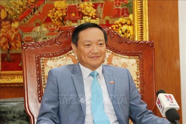越共中央总书记、国家主席阮富仲对老挝进行正式友好访问具有十分重要意义 hinh anh 1