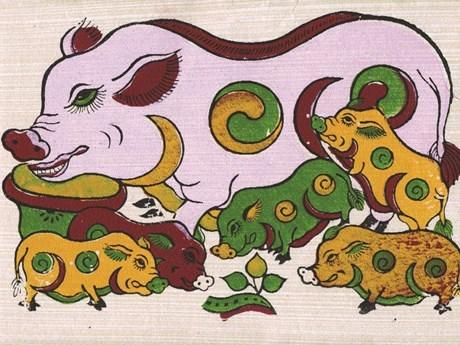 """猪年了解越南各类民间画中""""猪""""的形象 hinh anh 1"""