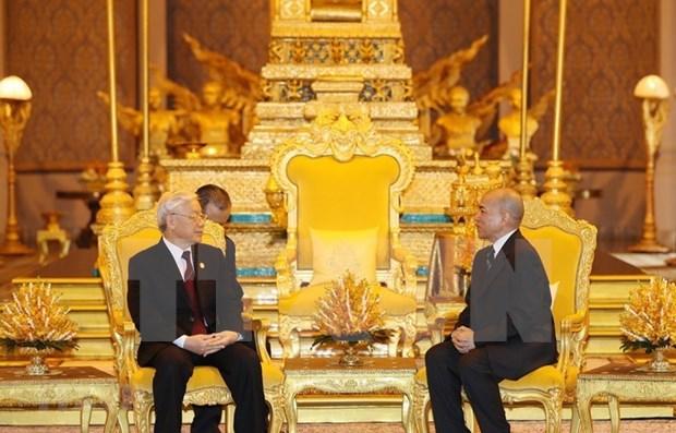 阮富仲即将访问柬埔寨:促进两国关系走向深入 稳步发展 hinh anh 1