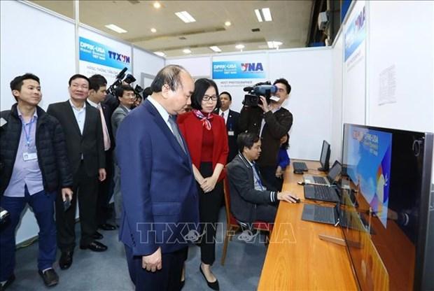 阮春福总理对美朝领导人第二次会晤的准备工作进行实地检查 hinh anh 1