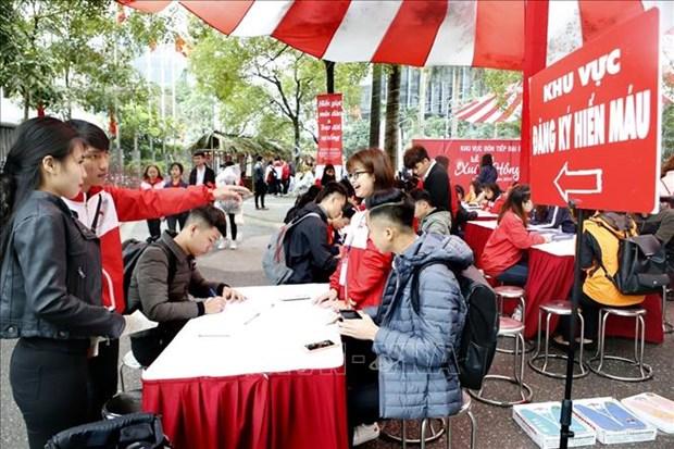 第十二次春红献血节吸引1.2万人参加 hinh anh 1